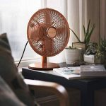 Brandson Ventilateur de table rétro Copperline | Ventilateur avec 3 niveaux de vitesse | Oscillation à 80 ° commutable | Angle d'inclinaison d'environ 40 ° | boîtier métallique robuste | Cuivre de la marque Brandson image 4 produit