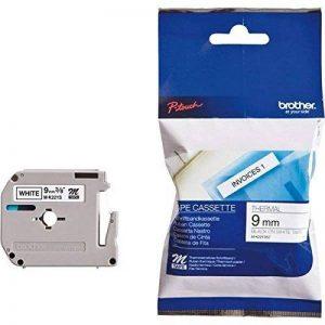 Brother MK221SBZ Cassette de Ruban 9 mm Noir sur Blanc de la marque Brother image 0 produit