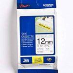 Brother - TZe-S231 - Ruban cassette 12 mm Noir sur blanc - Adhésif puissant de la marque Brother image 1 produit