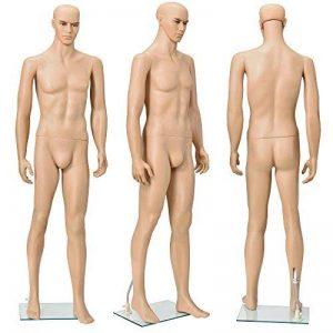 [casa.pro]® Mannequin de vitrine 185cm masculin Mannequin de couture de la marque [casa.pro]® image 0 produit