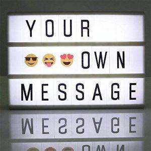 CinémaBoite à lumière A6 Box cinématique avec 90 lettres Combinaison gratuite pour mariage, Home, Photoshoots, Fête d'anniversaire de la marque Mirah June image 0 produit