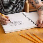 Colore # 2 Crayons avec des gommes à effacer - Haute Qualité en graphite HB / No 2 Crayon en bois jaune - Équipement important pour l'école d'Art, pour l'écriture, le dessin et l'esquisse avec caoutchouc - Convient aux enfants et aux adultes - 144 pièces. image 2 produit