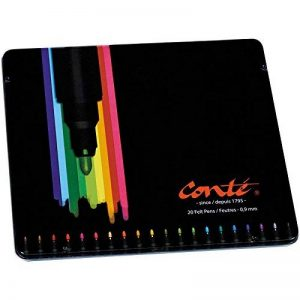 Conté Feutres de Coloriage - Boîte Métallique de 20 de la marque Conte image 0 produit