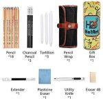Crayon de Croquis Crayons de Dessin, Ho! Art Set de Esquisse Artiste Outils avec Rouleau Sac Inclus Gomme Crayon, Boîte-cadeau Cadeau Parfait Outil Pour Artiste de la marque Ho! Art image 2 produit