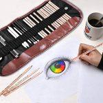 Crayons de Dessin, COOLJOY 29Pcs Trouse de Cryons Croquis Set d'artiste Esquisse, Matériel de Dessin Professionnel inclus un Rouleau Sac Portable pour les Dessinateurs Voyageurs, Amateurs de la marque COOLJOY image 2 produit
