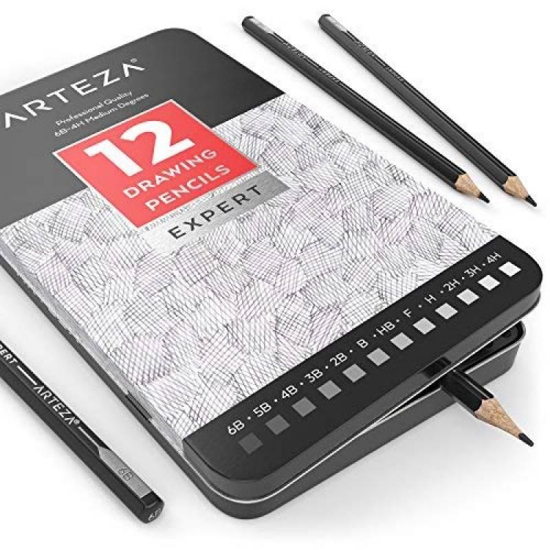 LANSEYQO 12 x Estompe en Papier Dessin Crayon Estompeur Tortillions Croquis Styl