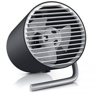 CSL - USB ventilateur de table | ventilateur portable / Mini USB Desk Fan | réglage de vitesse de 2 niveaux | économique en énergie | flux d'air élevé (2x rotors) | angle d'inclinaison d'env. 30° | portable / idéal pour les applications mobiles de la marq image 0 produit