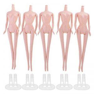 D DOLITY 5 Pièces Poupée Mannequin Femme Nue Articulés avec Supports Dollhouse Miniature Décor de la marque D DOLITY image 0 produit