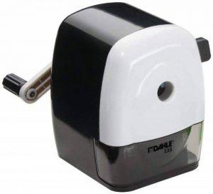 Dahle 00133-02036 Taille-crayon mécanique 133, pour crayons jusqu'à 11,5 mm de diamètre, avec étrier de fixation (Noir/blanc) de la marque Dahle image 0 produit