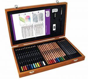 Derwent Academy, kit d'art dans une boîte en bois de la marque DERWENT image 0 produit