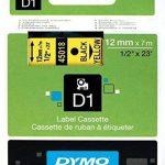 Dymo D1 Étiquettes Standard 12 mm x 7 m - Noir sur Jaune de la marque DYMO image 2 produit