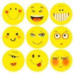 ECENCE 12x Gomme à effacer avec émoticône gomme smiley smile enfants cadeau d?anniversaire enfant 13010201 de la marque ECENCE image 1 produit