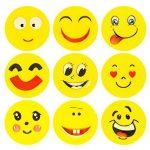 ECENCE 12x Gomme à effacer avec émoticône gomme smiley smile enfants cadeau d?anniversaire enfant 13010201 de la marque ECENCE image 2 produit