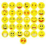 ECENCE 12x Gomme à effacer avec émoticône gomme smiley smile enfants cadeau d?anniversaire enfant 13010201 de la marque ECENCE image 3 produit