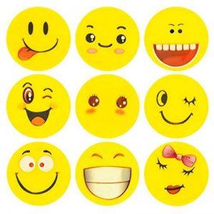 ECENCE 24x Gomme à effacer avec émoticône gomme smiley smile enfants cadeau d?anniversaire enfant 13020206 de la marque ECENCE image 0 produit