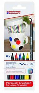 Edding 4-4200-6 4200 Marqueurs pour porcelaine Épaisseur du trait 1-4 mm Couleurs assorties de la marque Edding image 0 produit