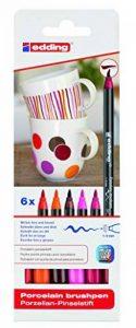Edding 4-4200-6999 4200 Marqueurs pour porcelaine Épaisseur du trait 1-4 mm Couleurs assorties de la marque Edding image 0 produit