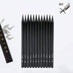 EVNEED Ensemble de crayons sans bois, 12 pcs Graphite non ligneux et croquis au fusain pour dessiner, ¨¦crire, ombrer, couleur Noir-Set de 12 de la marque EVNEED image 4 produit