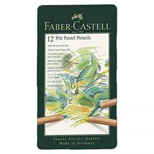 Faber-Castell 112112 Crayon PITT PASTEL boîte métal de 12 pièces de la marque Faber-Castell image 0 produit