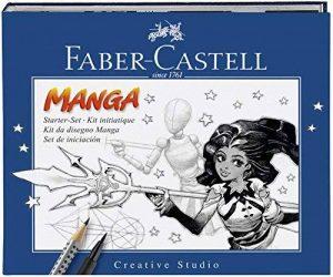 """FABER-CASTELL Kit """"Manga"""" PITT Artist débutant 8 pieces Stylo/Crayon/Modèle/Bloc de la marque Faber-Castell image 0 produit"""
