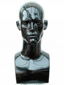Forever Young Tête de mannequin homme professionnelle pour casque/console/chapeau/perruque Noir/brillant de la marque Forever Young image 0 produit