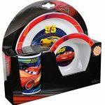 FUN HOUSE 005515 Disney Cars Ensemble Repas Contenant 1 Assiette, 1 Bol et 1 Verre pour Enfant Polypropylène Jaune 26.5x8.5x24.5 cm de la marque FUN HOUSE image 2 produit