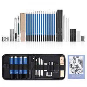 GHB 36PCS Crayons de Dessin Crayons Croquis Kit de Croquis Dessin avec Sac Inclus Gomme Crayon de Charbon Graphite Outils pour Dessiner de la marque GHB image 0 produit