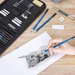 GHB 36PCS Crayons de Dessin Crayons Croquis Kit de Croquis Dessin avec Sac Inclus Gomme Crayon de Charbon Graphite Outils pour Dessiner de la marque GHB image 2 produit