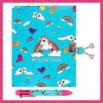 GirlZone CADEAU POUR FILLES JOURNAL SECRET – verrouillable avec clé et serrure, cahier carnet de notes prives mignon et intime pour loisir avec ensemble de stylo de la marque GirlZone image 1 produit