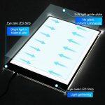 Glisteny Tablette Lumineuse, Luminosité Réglable A3 Super Mince avec Cable USB Lumineuse Dessin LED Copy Light Box 3 Types Tablette Lumineuse Pour Dessiner de la marque Glisteny image 2 produit