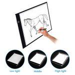 Glisteny Tablette Lumineuse, Luminosité Réglable A3 Super Mince avec Cable USB Lumineuse Dessin LED Copy Light Box 3 Types Tablette Lumineuse Pour Dessiner de la marque Glisteny image 3 produit