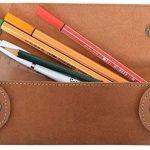 """Gusti Cuir studio """"Chad"""" trousse en cuir organizer crayons stylos accessoire en cuir vintage taille petite pratique chic élégante hommes femmes bureau marron 2S6-22-5 de la marque Gusti image 2 produit"""