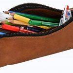 """Gusti Cuir studio """"Lennard"""" trousse en cuir organizer crayons stylos étui en cuir accessoire en cuir vintage taille moyen pratique chic élégante université hommes femmes marron 2S5-22-5 de la marque Gusti image 1 produit"""