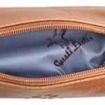 """Gusti Cuir studio """"Peter"""" trousse en cuir accessoire organizer crayons avec doublure imperméable cuir vintage taille petite pratique chic élégante hommes femmes bureau marron 2S1-20-1wp de la marque Gusti image 4 produit"""