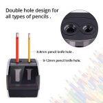 HOMMINI Taille-Crayon Electrique Avec Réservoir Chargé par USB & Batterie(Non inclus),2 trous (6-8mm & 9-12mm), Taille crayon automatique,Idéal pour La classe, Le bureau et La maison de la marque HOMMINI image 2 produit