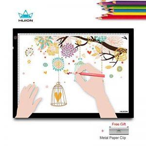 HUION A3 Planche à dessin lumineuse avec tampon de lumière de traçage Boîte à lumière pour l'animation d'artiste,le design d'art avec clip en métal de la marque HUION image 0 produit