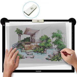"""Huion LA3 Tracé USB Table lumineuse Luminosité réglable, Zone active 48 x 36cm (18,86"""" x 14,21"""") de la marque HUION image 0 produit"""
