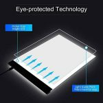 HYSWOW A4 LED Portable Artcraft Boîte à Lumière, 4mm Ultra-mince Tablette Lumineuse avec Prise d'alimentation USB pour Artistes, Dessin, Croquis, Animation de la marque HYSWOW image 3 produit