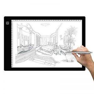 HYSWOW A4 LED Portable Artcraft Boîte à Lumière, 4mm Ultra-mince Tablette Lumineuse avec Prise d'alimentation USB pour Artistes, Dessin, Croquis, Animation de la marque HYSWOW image 0 produit