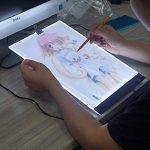 i-ZAGA Satisfr Tablette Lumineuse, A4 Ultramince Portable Lumineuse Dessin, LED Art Design Stencil Tableau de Table Traçage Dessin Traçage de Motifs Copier Pad Board(3 Niveaux de luminosité) de la marque i-ZAGA image 4 produit