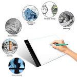 i-ZAGA Satisfr Tablette Lumineuse, A4 Ultramince Portable Lumineuse Dessin, LED Art Design Stencil Tableau de Table Traçage Dessin Traçage de Motifs Copier Pad Board(3 Niveaux de luminosité) de la marque i-ZAGA image 3 produit