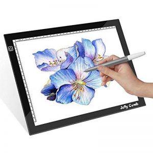 Jelly Comb Tablette Lumineuse de Calquer Table à Dessin A3 LED Luminosité Réglable Ultra-Mince avec Câble USB pour Tatouage Dessin Architecture Calligraphie Artisanat de la marque Jelly Comb image 0 produit