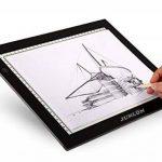 JUNLON A3 Tablette Lumineuse (UK Plug only)LED Light Pad Table Traçage Table à Dessin Lumière Produit lumineux de Artistes Artisanat Traçage d'Animation Extrêmement Lumineux Luminosité Réglable Tatouage de la marque JUNLON image 1 produit