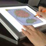 JUNLON A4 Aluminium Tablette Lumineuse LED Light Pad Box Table de Traçage pour Traçage Dessin Artistes Pochoir Artisanat Traçage d'Animation Extrêmement Lumineux Luminosité Réglable Table Lumineuse de la marque JUNLON image 1 produit