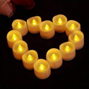 JZK 12 LED clignotante lumière de bougie sans flamme lumière de thé fonctionnant sur batterie pour la décoration de table de mariage la Saint-Valentin Halloween lumière de Noël de la marque JZK image 0 produit