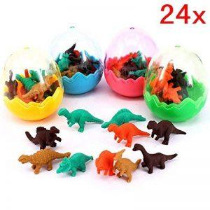 JZK 24 oeufs de dinosaures avec un petit jouet de dinosaure en caoutchouc ensemble de mini-gomme crayon pour les enfants parti faveurs enfants fête d'anniversaire sac pour les garçons filles de la marque JZK image 0 produit