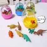 JZK 24 oeufs de dinosaures avec un petit jouet de dinosaure en caoutchouc ensemble de mini-gomme crayon pour les enfants parti faveurs enfants fête d'anniversaire sac pour les garçons filles de la marque JZK image 4 produit
