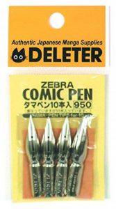 """Kabura(Tama/Saji)-pen (stylo) Plume pour dessiner un manga. 10 pieces """"Fabriqué au Japon"""" de la marque DELETER INC. image 0 produit"""