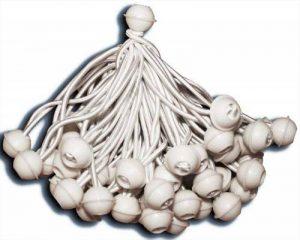 KMH® 50 gommes de rideau, Ball Bungee, élastiques corde élastique, aussi pour rideaux pour fêtes et événements (# 303025) de la marque KMH image 0 produit
