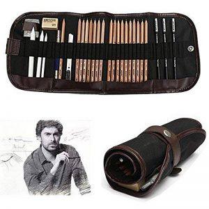 KOBWA Professionnel Croquis Set Multifonctionnel Bois Crayons avec Roll Up Rideau Sac, Hot 8 In 1 Set de Crayons à Dessin Outil Pour Artiste avec Bonne Qualité de la marque KOBWA image 0 produit